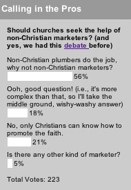 Should churches seek the help of non-Christian marketers?