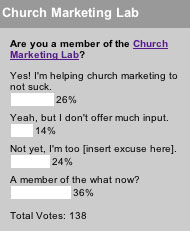 Are you a member of the Church Marketing Lab?