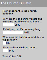 How important is the church bulletin?