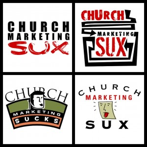 Original and unused Church Marketing Sux logos