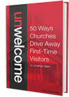 """Unwelcome: 50 Ways Churches Drive Away First-Time Visitors,"" including reserved seating."
