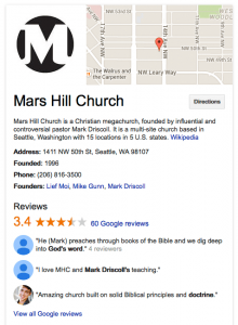 Church Recommendations on Google