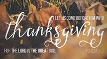 Thanksgiving Graphic: Saying Thank You on Social