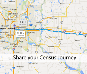 Social Media Christmas: Google Maps Census Journey