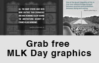 Grab free Martin Luther King Jr. Day graphics