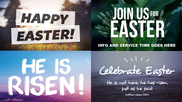 Easter social media graphics