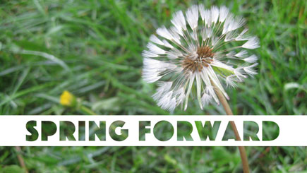 Daylight Savings Social Media Graphic: Spring Forward