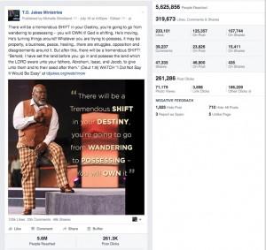Popular social media posts: T.D. Jakes