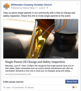Popular social media posts: Oil Change