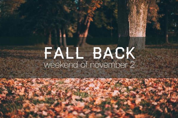 Daylight Savings Fall Back Social Media Graphic