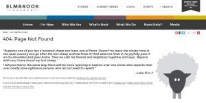 Elmbrook 404 error page