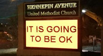 A Different Approach to Church Signs: It Is Going to Be OK