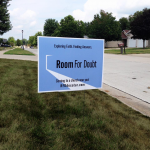 Room for Doubt lawn sign
