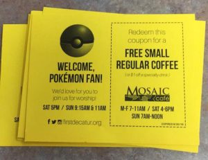 Free coffee coupon for Pokemon fans