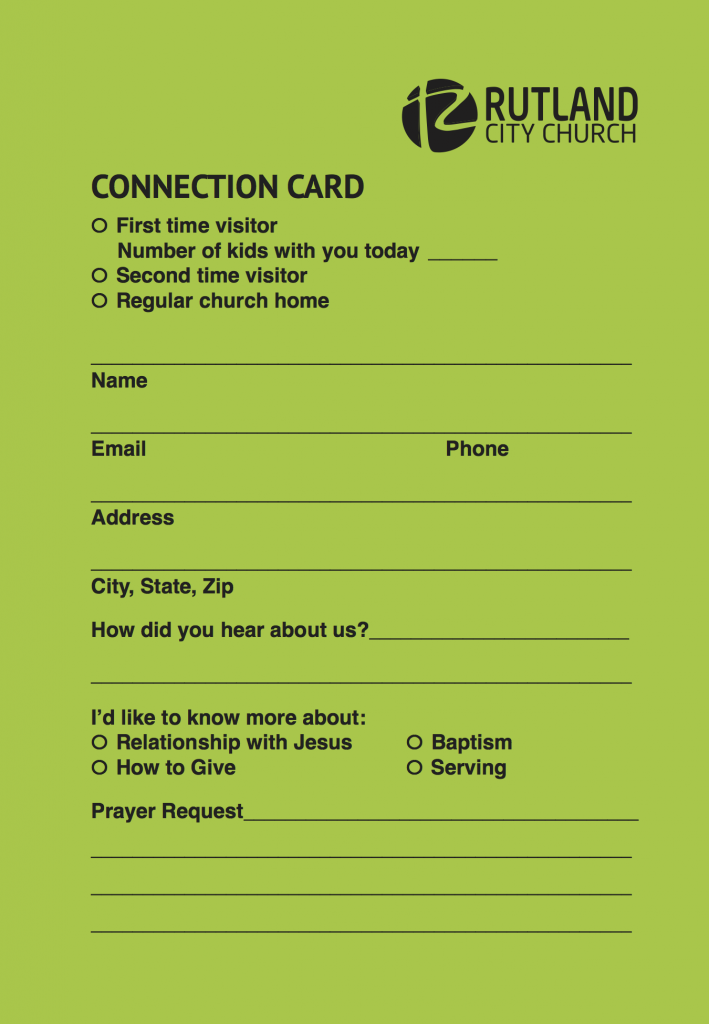 RCity 4x6 connect card