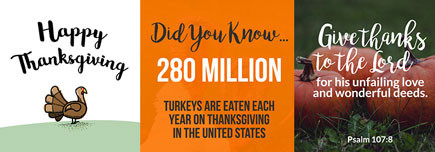 Thanksgiving graphics to share on social media