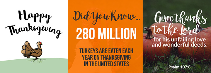 Thanksgiving social media graphics for you to download