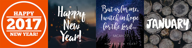 Free New Year's social media graphics