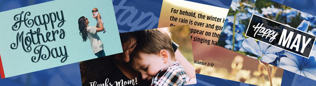 Mother's Day (and all of May) social media graphics for your church