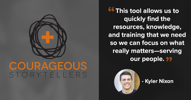 """""""This tool allows us to quickly find the resources, knowledge, and training that we need so we can focus on what really matters—serving our people."""" -Kyler Nixon"""