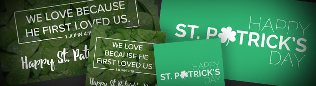 St. Patrick's Day social media graphics for your church