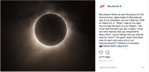 Screenshot: Solar eclipse post