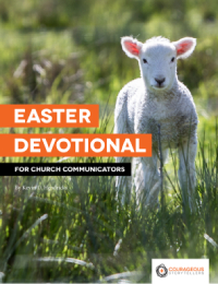 Cover of Easter Devotional for Church Communicators