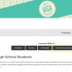 High school ministry page email opt-in form