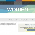 Women's ministry page email opt-in form